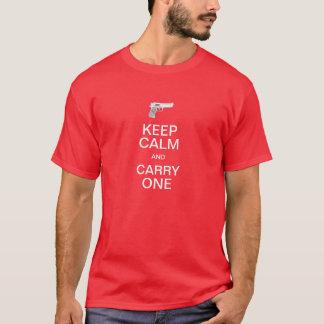 Camiseta Guarde la calma y lleve uno