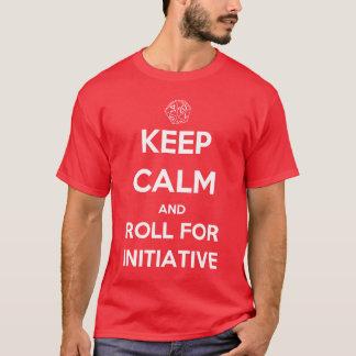 Camiseta Guarde la calma y ruede para la iniciativa