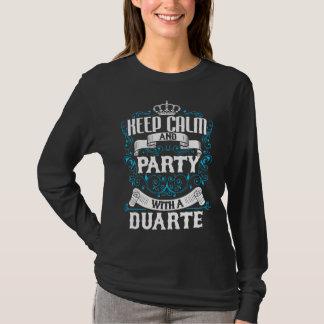 Camiseta Guarde la calma y vaya de fiesta con un cumpleaños