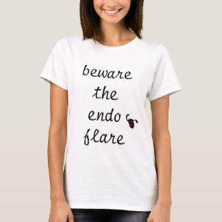 Camiseta guárdese de la llamarada endo