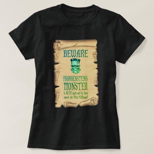 Camiseta Guárdese del poster del vintage del monstruo de