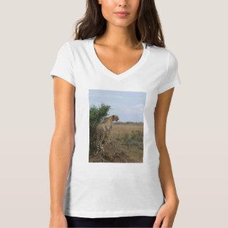Camiseta Guepardo de la madre con los cachorros