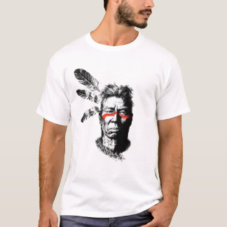 Camiseta guerrero del nativo americano