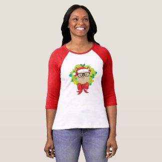 Camiseta Guirnalda de las Felices Navidad de la llama del