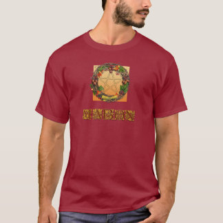 Camiseta Guirnalda de Mabon con las letras del roble
