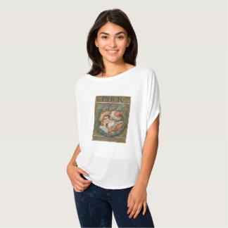 Camiseta Guirnalda del navidad de Santa del vintage que se