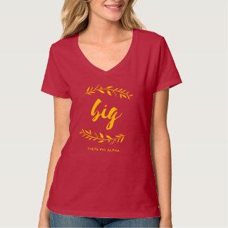 Camiseta Guirnalda grande alfa de la phi de la theta