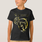 Camiseta Guitarra de la estrella del rock - negro y oro