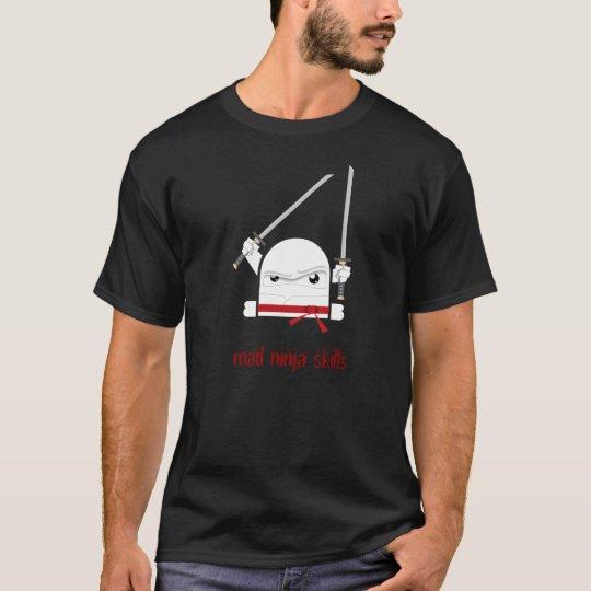 Camiseta Habilidades enojadas del ninja