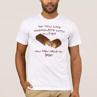 Camiseta ¿Hacen usted tienen gusto del chocolate con las