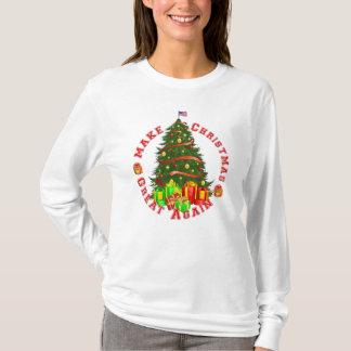 Camiseta Haga navidad el gran otra vez triunfo amarillo