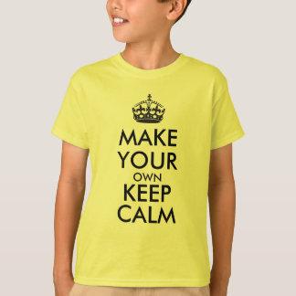 Camiseta Haga que sus los propios guardan la calma - negro