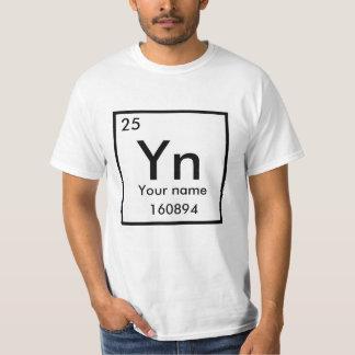 Camiseta Haga su poster del elemento químico