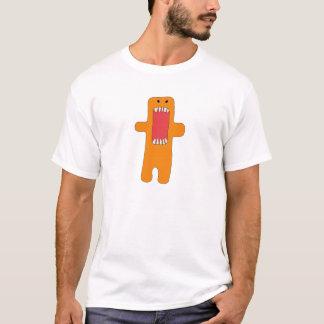 Camiseta Hambre del tiene del naranja del monstruo del EL