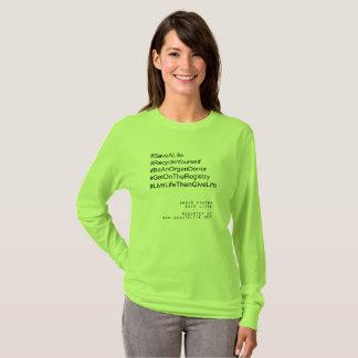 Camiseta Hashtag se recicla donante de órganos
