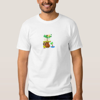 Camiseta hawaiana del chica del Ukulele