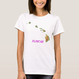 Camiseta Hawaii-mapa, HAWAII