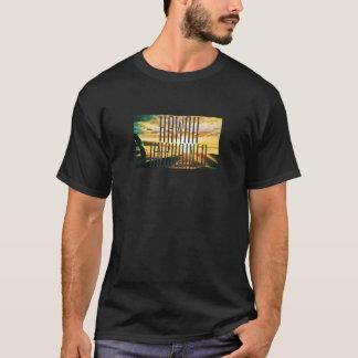 Camiseta Hawaii soltó el gráfico de la puesta del sol