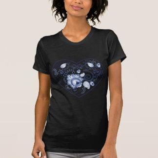 Camiseta Heart2 floral azul
