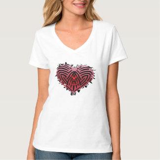 Camiseta Heartz rugoso