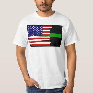 Camiseta hecha andrajos de la Línea Verde de la