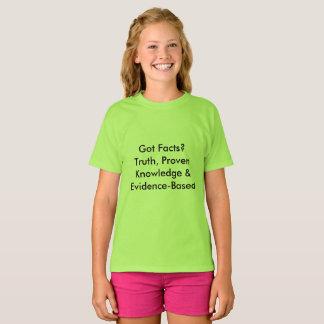 Camiseta ¿Hechos conseguidos? Definiciones de la diversión