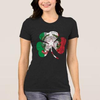 Camiseta Herencia italiana irlandesa del trébol de la