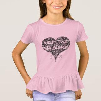 Camiseta Hermana de la primera vez y corazón del cordón
