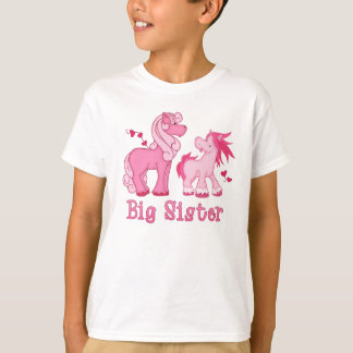 Camiseta Hermana grande rosada de Ponys