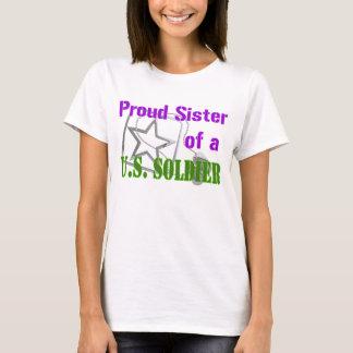 Camiseta Hermana orgullosa de un soldado de los E.E.U.U.