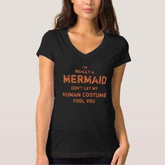 Camiseta Hilarante soy realmente una sirena Halloween