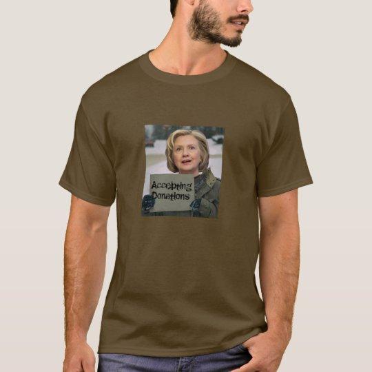 Camiseta Hillary Clinton - aceptar donaciones
