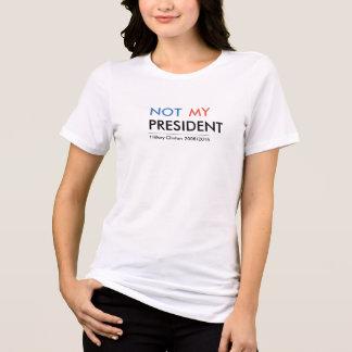 Camiseta Hillary Clinton no mi presidente