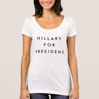 Camiseta Hillary para el presidente 2016