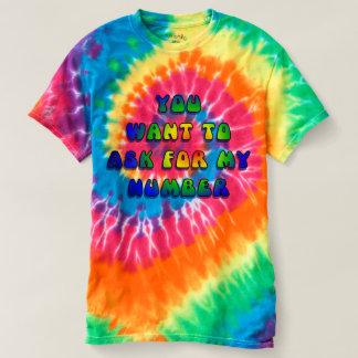 Camiseta Hipnótico - usted quiere mi número