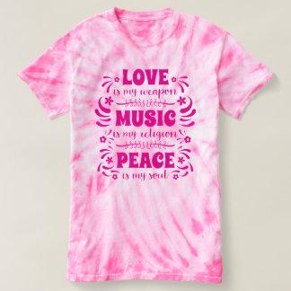 Camiseta hippies de los años 70: El amor es mi arma, música