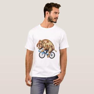 Camiseta Hippopotamus en una bicicleta