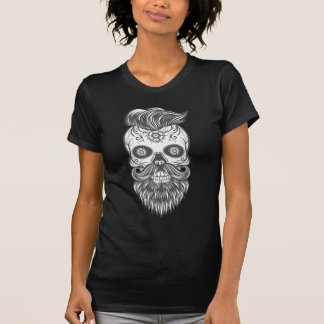 Camiseta Hipster sugar skull 3