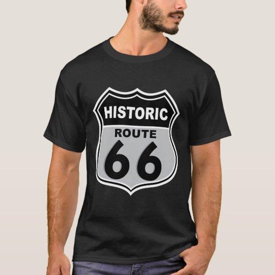Camiseta histórica de la señal de tráfico de la