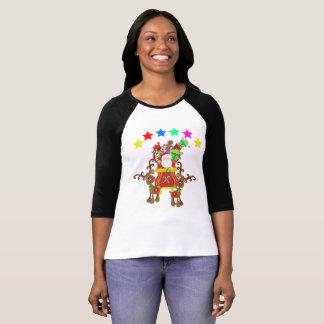 Camiseta Ho Ho Nochebuena de la lluvia de Santa estimada