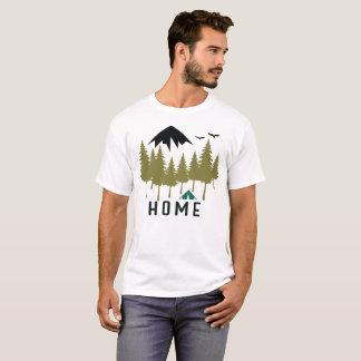 Camiseta Hogar de la montaña que acampa al aire libre