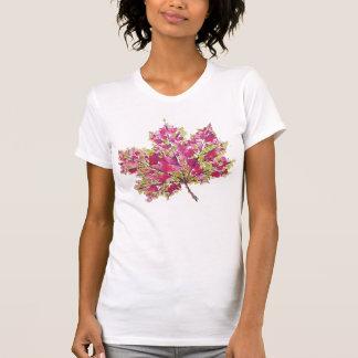 Camiseta Hoja colorida abstracta del otoño de la acuarela