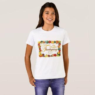 Camiseta Hojas coloridas de la acción de gracias feliz del