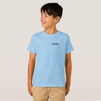 Camiseta Hola niños superiores