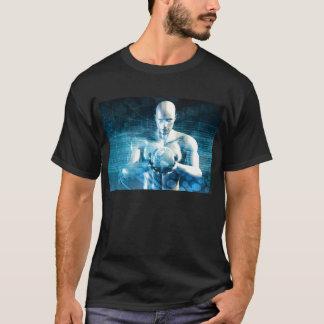 Camiseta Hombre que sostiene el globo con industria de la