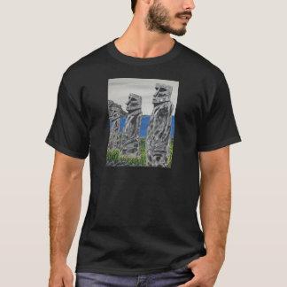 Camiseta Hombres de la piedra de la isla de pascua