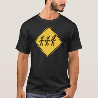 Camiseta Hombres su señal de tráfico de mamá Warned You
