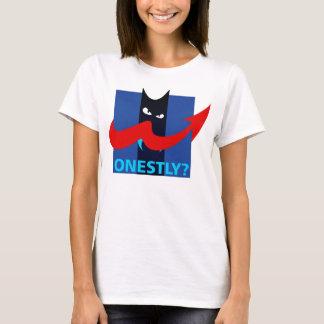 Camiseta ¿Honesto? Sátira política Meme