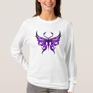 Camiseta Hoodie. púrpura de la mariposa