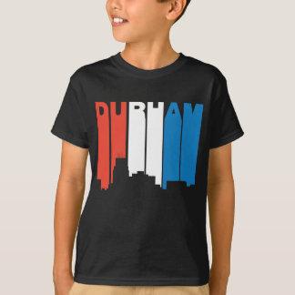 Camiseta Horizonte blanco y azul rojo de Durham Carolina